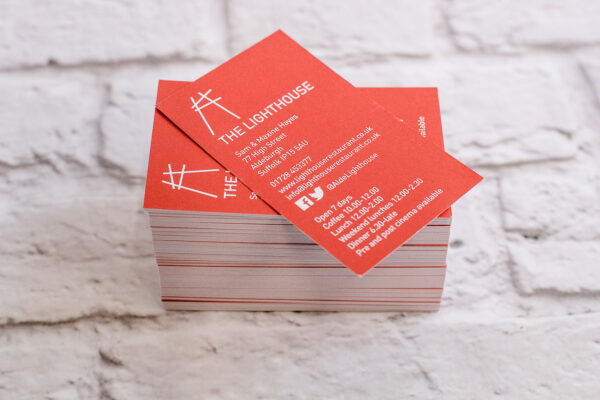 Business Card Printing | The Lighthouse | Leiston Press